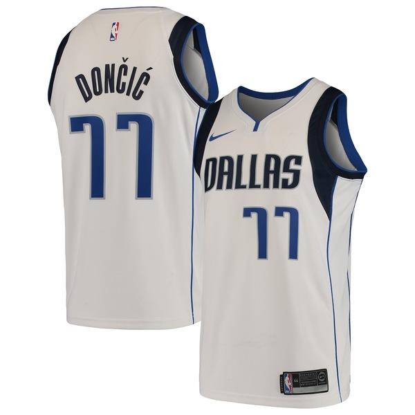 ナイキ メンズ ユニフォーム トップス Luka Doncic Dallas Mavericks Nike Swingman Jersey Association Edition White