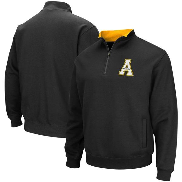 コロシアム メンズ ジャケット&ブルゾン アウター Appalachian State Mountaineers Colosseum Tortugas Logo QuarterZip Jacket Heathered Gray