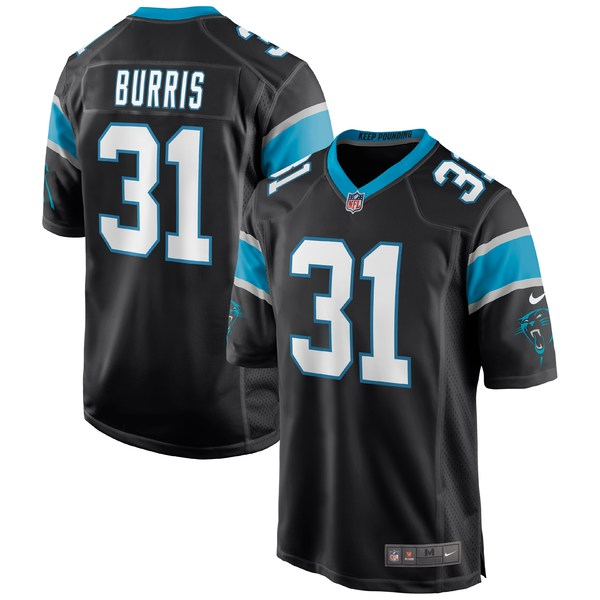 ナイキ メンズ ユニフォーム トップス Juston Burris Carolina Panthers Nike Game Jersey Black