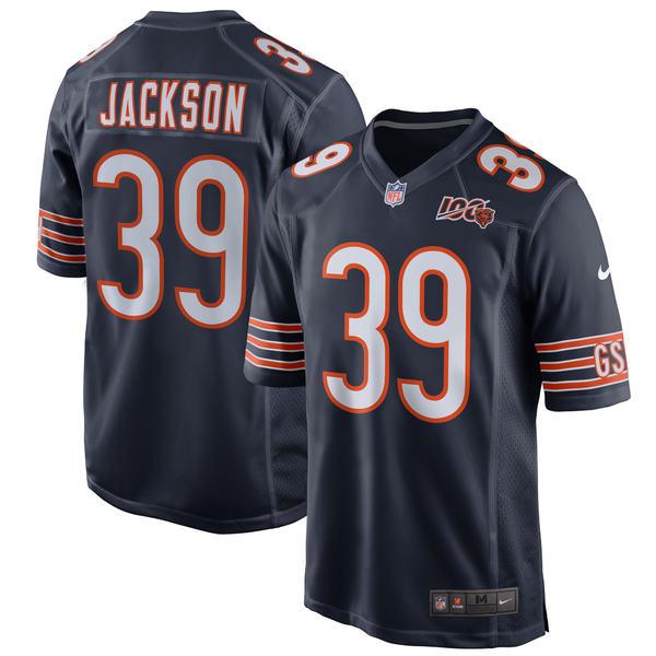 ナイキ メンズ ユニフォーム トップス Eddie Jackson Chicago Bears Nike 100th Season Game Jersey White