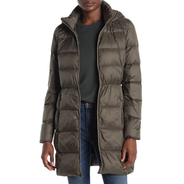 ラッキーブランド レディース ジャケット&ブルゾン アウター Hooded Zip Front Down Jacket OLIVE