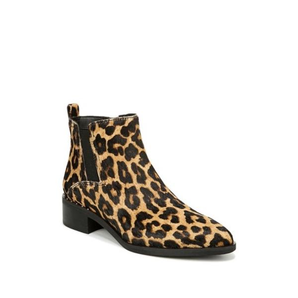 フランコサルト レディース ブーツ&レインブーツ シューズ Domingo Leopard Print Genuine Calf Hair Bootie CAMEL