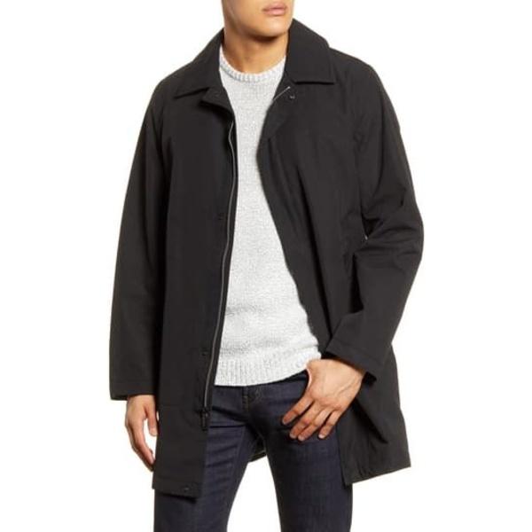 アウター Cotton ジャケット&ブルゾン メンズ BLACK Walker ヴィンスカムート Poly Coat