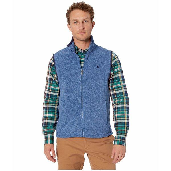 ラルフローレン メンズ コート アウター Poly Fleece Vest Fog Blue Heather