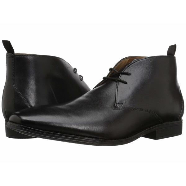 クラークス メンズ ブーツ&レインブーツ シューズ Gilman Mid Black Leather