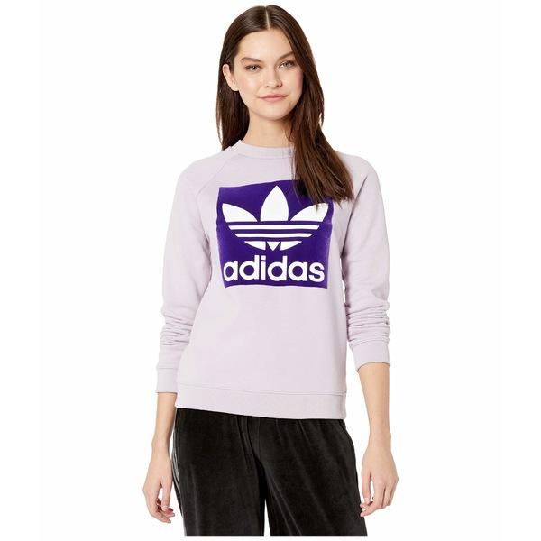 アディダスオリジナルス レディース パーカー・スウェットシャツ アウター Trefoil Crew Sweatshirt Soft Vision