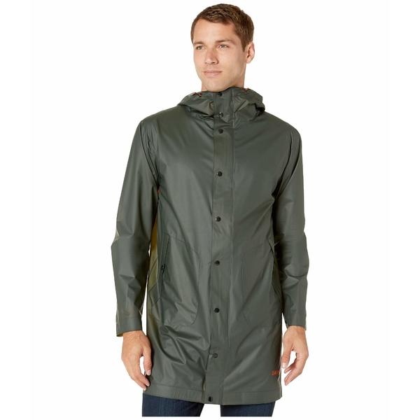 スウィムス メンズ コート アウター Basel Raincoat Olive