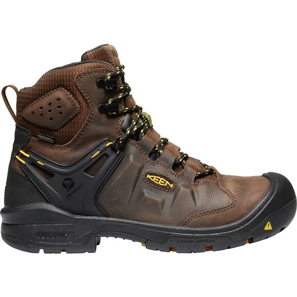 キーン メンズ ブーツ&レインブーツ シューズ KEEN Men's Dover 6'' Waterproof Steel Toe Work Boots DarkEarth/Black