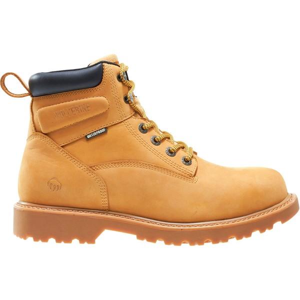 ウルヴァリン メンズ ブーツ&レインブーツ シューズ Wolverine Men's Floorhand 6'' Waterproof Work Boots Wheat
