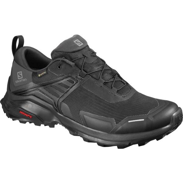 サロモン メンズ ブーツ&レインブーツ シューズ Salomon Men's X Raise GTX Hiking Shoes Black/Black