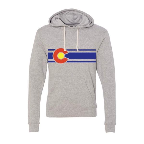 コロラド リミテッド メンズ パーカー・スウェットシャツ アウター Colorado Limited Men's Flag Hoodie HeatherGrey