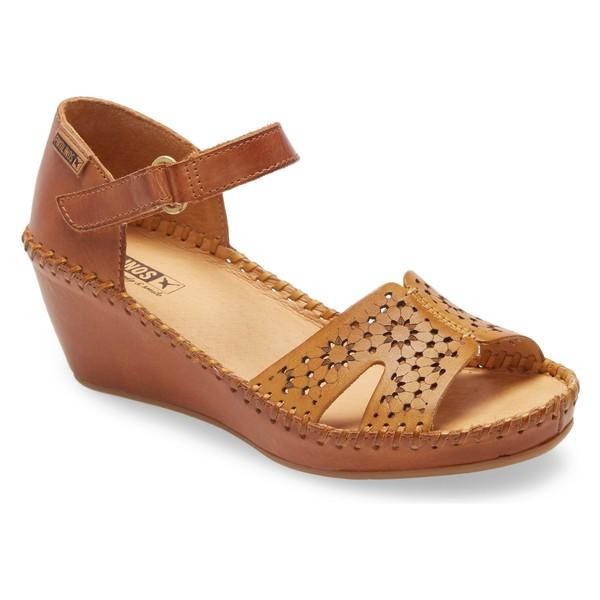 ピコリーノス レディース サンダル シューズ PIKOLINOS Margarita Wedge Sandal (Women) Honey Leather