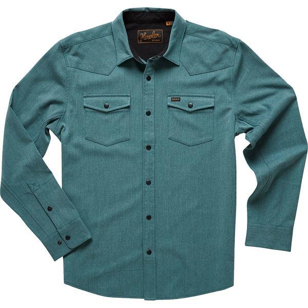 ハウラーブラザーズ メンズ シャツ トップス Stockman Stretch Snap Shirt - Men's Teal