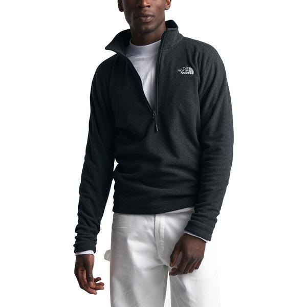 ノースフェイス メンズ ジャケット&ブルゾン アウター Textured Cap Rock 1/4-Zip Fleece Jacket - Men's Tnf Black