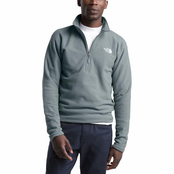 ノースフェイス メンズ ジャケット&ブルゾン アウター Textured Cap Rock 1/4-Zip Fleece Jacket - Men's Mid Grey