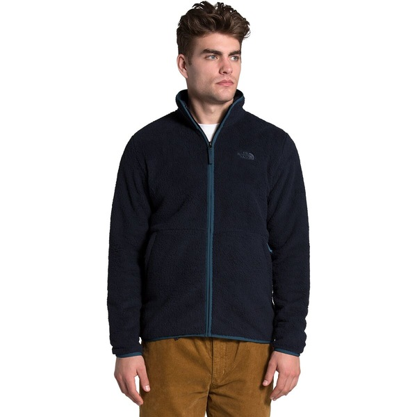 ノースフェイス メンズ ジャケット&ブルゾン アウター Dunraven Sherpa Full-Zip Jacket - Men's Aviator Navy/Mallard Blue