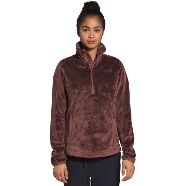 ノースフェイス レディース ジャケット&ブルゾン アウター Osito 1/4-Zip Fleece Pullover - Women's Marron Purple