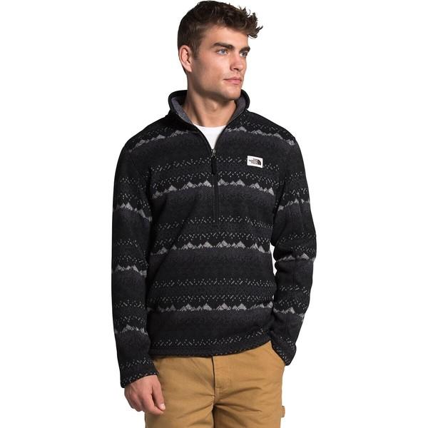 ノースフェイス メンズ ジャケット&ブルゾン アウター Novelty Gordon Lyons 1/4-Zip Fleece Pullover Jacket - Men's TNF Black Landscape Print