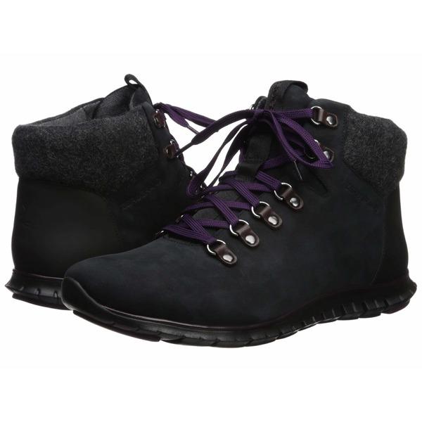 コールハーン レディース ブーツ&レインブーツ シューズ Zerogrand Hiker Boot Black/Elderberry WP Nubuck