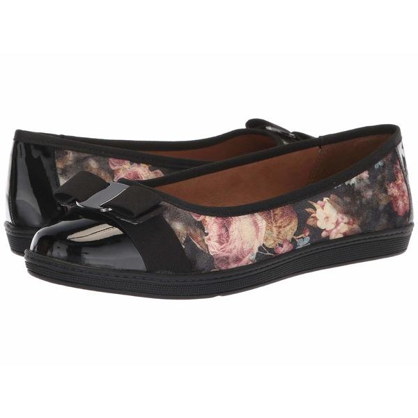 ソフトスタイル レディース サンダル シューズ Faeth Black Floral Printed Velvet