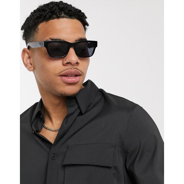 カルバンクライン メンズ シャツ トップス Calvin Klein utilty long sleeve shirt in black Black