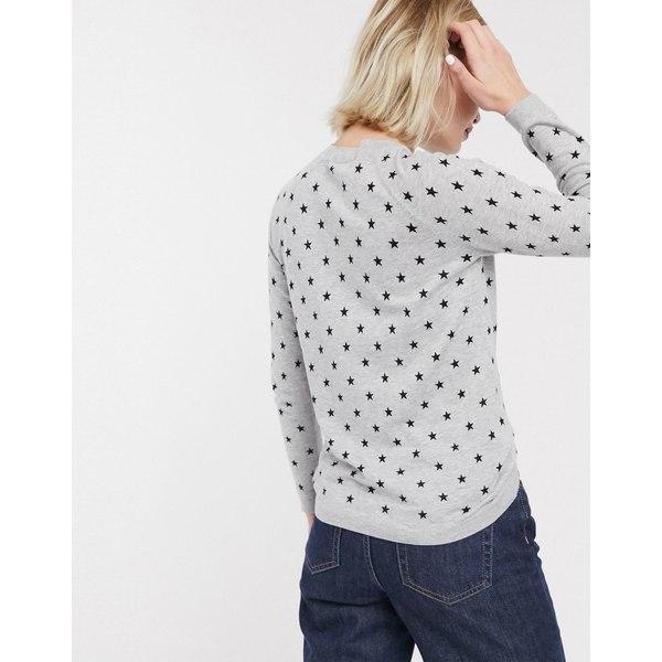 ホイッスルズ レディース ニット&セーター アウター Whistles star print crew neck sweater Gray marl