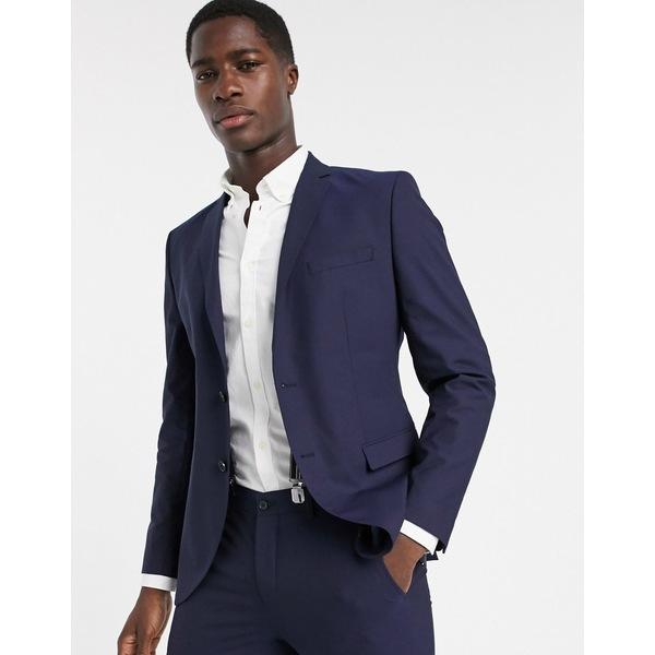 セレクテッドオム メンズ ジャケット&ブルゾン アウター Selected Homme skinny fit suit jacket in navy Navy