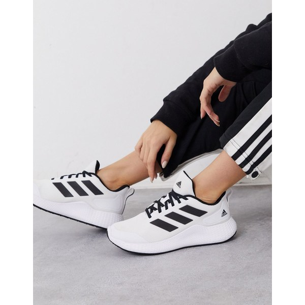 アディダス レディース スニーカー シューズ adidas Running edge gameday sneakers in white White
