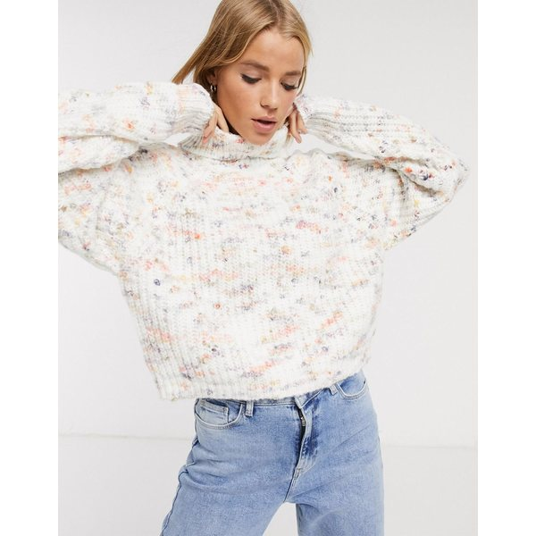エイソス レディース ニット&セーター アウター ASOS DESIGN pastel space dye chunky sweater with high neck Multi