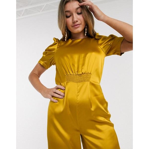 エイソス レディース ワンピース トップス ASOS DESIGN satin tea jumpsuit with ruched front detail DandelionshrCtQdx