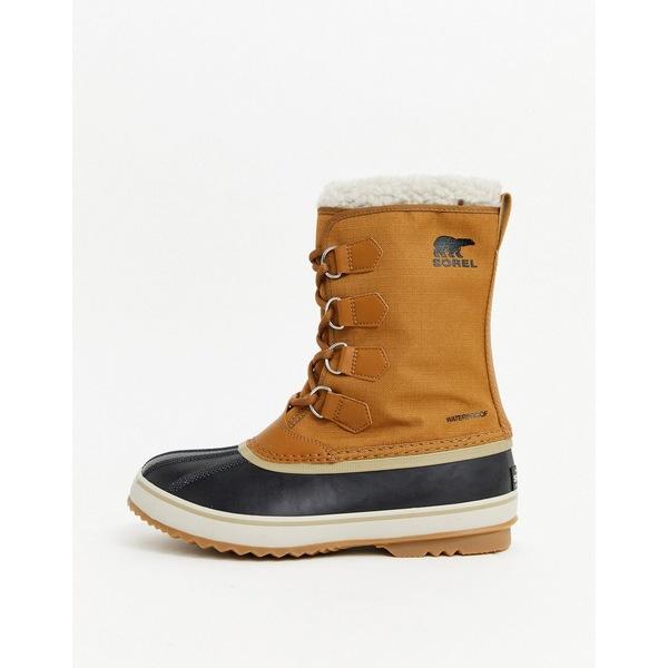 ソレル メンズ ブーツ&レインブーツ シューズ SOREL Pac nylon snow boots in tan Tan