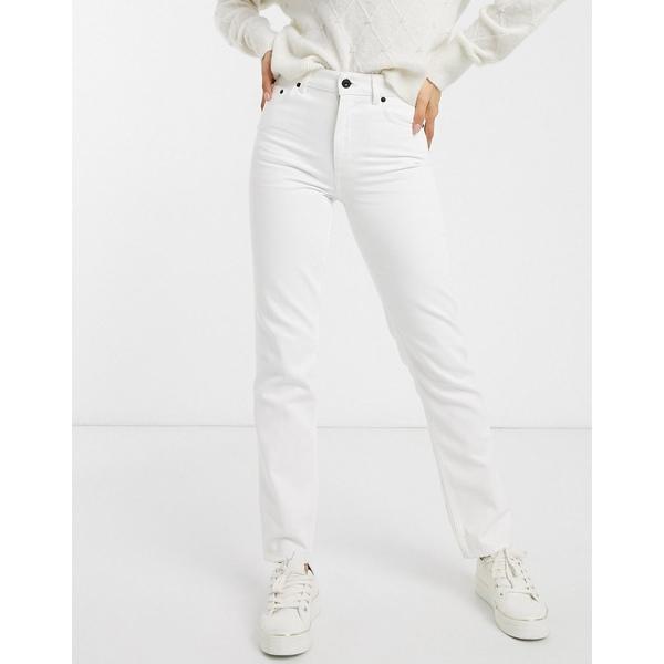 フレンチコネクション レディース デニムパンツ ボトムス French Connection high waist straight leg jean Summer white