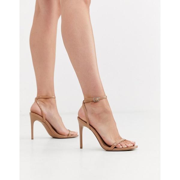 エイソス レディース サンダル シューズ ASOS DESIGN Nova barely there heeled sandals in beige Beige