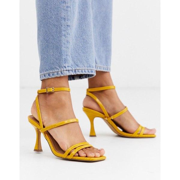 エイソス レディース サンダル シューズ ASOS DESIGN Hailee mid-heeled sandals in mustard Mustard