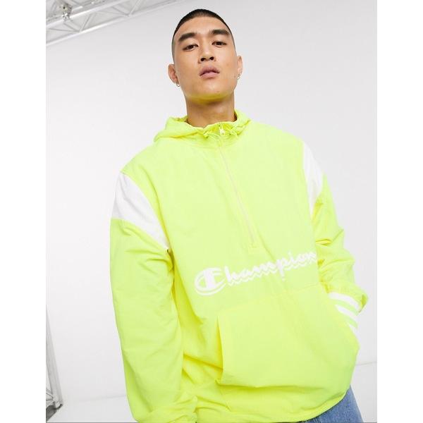 チャンピオン メンズ ジャケット&ブルゾン アウター Champion Manorack jacket in highlighter yellow Yellow