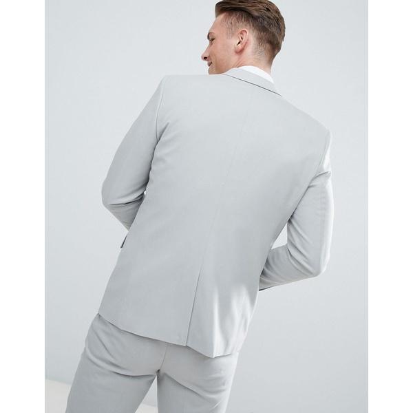 エイソス メンズ ジャケット&ブルゾン アウター ASOS Slim Suit Jacket In Light Gray Light gray