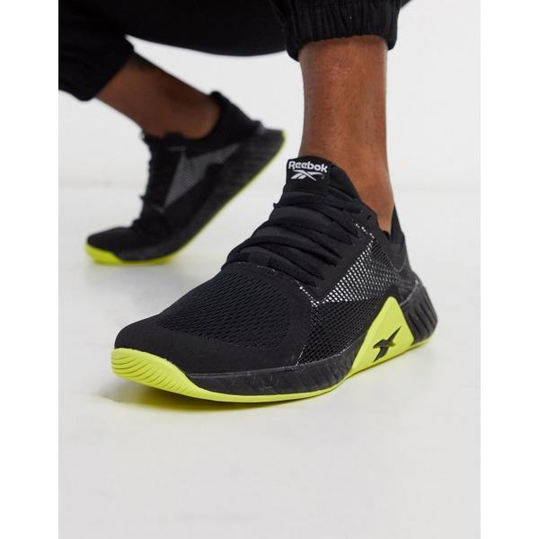リーボック メンズ スニーカー シューズ Reebok Training flashfilm sneakers in black Black