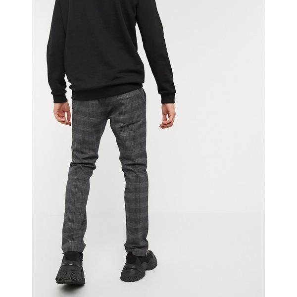 エスプリ メンズ カジュアルパンツ ボトムス Esprit pants in check Gray