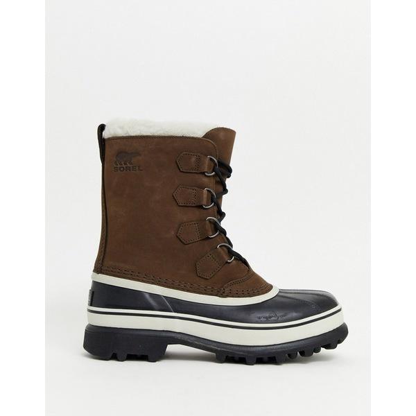 ソレル メンズ ブーツ&レインブーツ シューズ SOREL Caribou snow boot in brown Tan