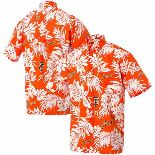 レインスプーナー メンズ シャツ トップス San Francisco Giants Reyn Spooner Aloha ButtonDown Shirt Orange