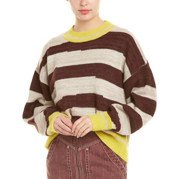 white toile Marant マラン イザベル Alpaca-Wool アウター Striped レディース ニット&セーター Sweater multicolor Glowy Isabel