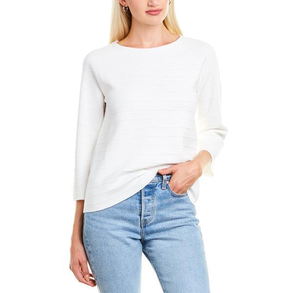 ニット&セーター Rib レディース Cashmere Sweater winter Forte アウター Ottoman フォートカシミア white
