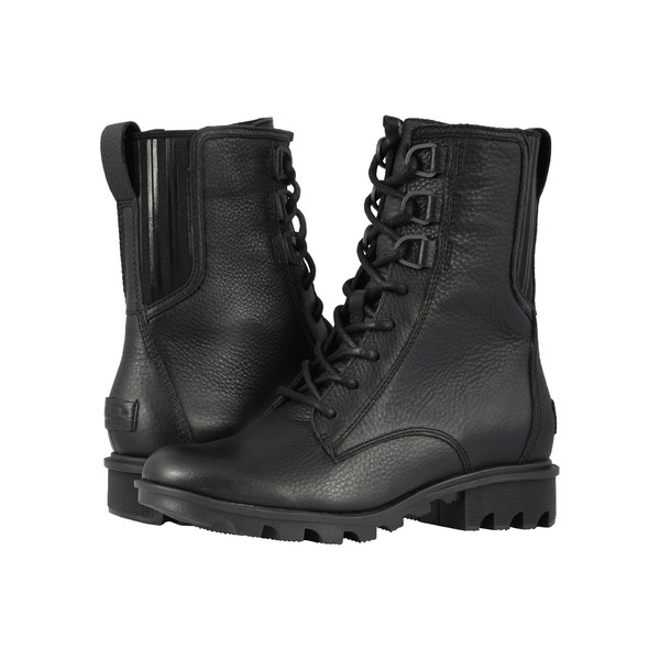 ソレル レディース ブーツ&レインブーツ シューズ Phoenix Lace Black Full Grain Leather