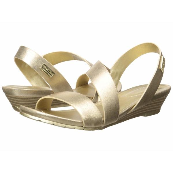 ケネスコール レディース ヒール シューズ Great Asymmetrical Soft Gold