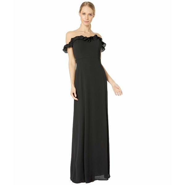 ワイフ レディース ワンピース トップス The Harlow Off Shoulder Gown Black