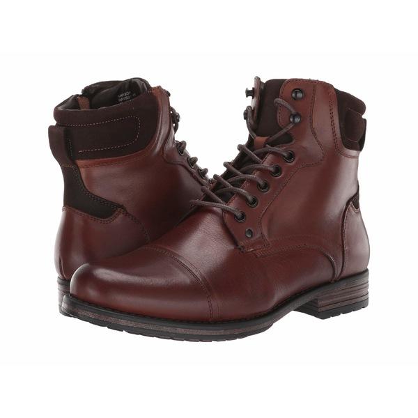 スティーブ マデン メンズ ブーツ&レインブーツ シューズ Rawson Boot Cognac Leather