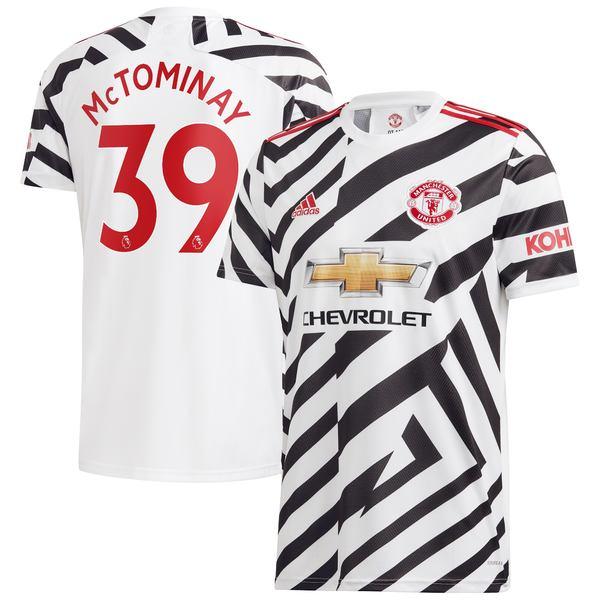 アディダス メンズ ユニフォーム トップス Scott McTominay Manchester United adidas 2020/21 Third Replica Player Jersey White