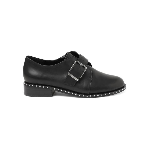ケンジー レディース オックスフォード シューズ Ghana Leather Monk Strap Dress Shoes Black