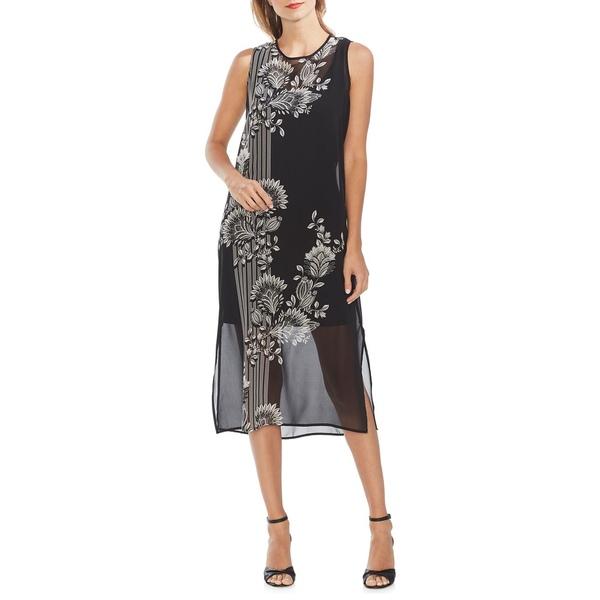 ヴィンスカムート レディース ワンピース トップス Modern Rouge Chiffon Overlay Dress Rich Black