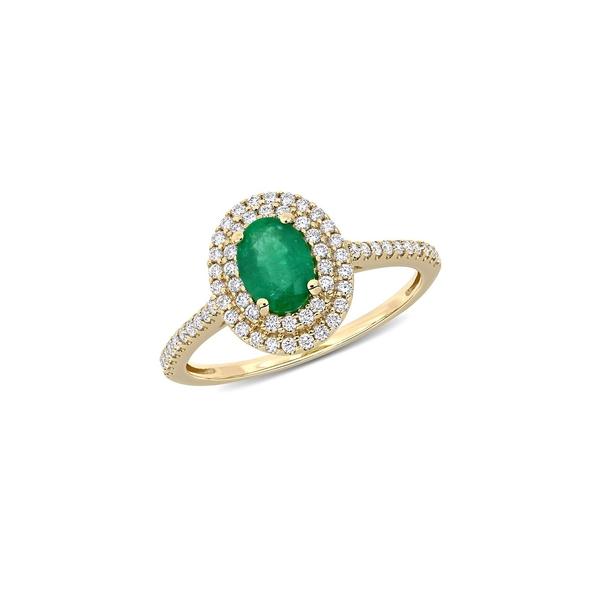 ソナティナ レディース リング アクセサリー 14K Yellow Gold & 0.33 TCW Diamond Ring Emerald